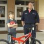 First responder delivers special gift to child hit by van