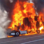 Semi truck goes up in flames near Myrtle Creek on I-5