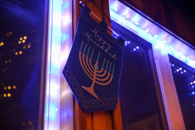 Ivy and Coney is a great dive bar, but right now the walls of this Shaw mainstay are glimmering with twinkle lights, menorahs and Stars of David for their annual Hanukkah pop-up, known as Chai-vy and Cohen-y. Jews and gentiles alike can join in dreidel games and snack on latkes and gelt. Although Hanukkah starts on December 12 and ends on December 20, visitors can take shots out of a menorah (really) until New Year's Eve. (Amanda Andrade-Rhoades/DC Refined)