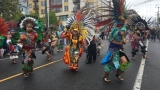 May Day Photos: Native American dancers with Ce Atl Tonalli perform during Seattle march