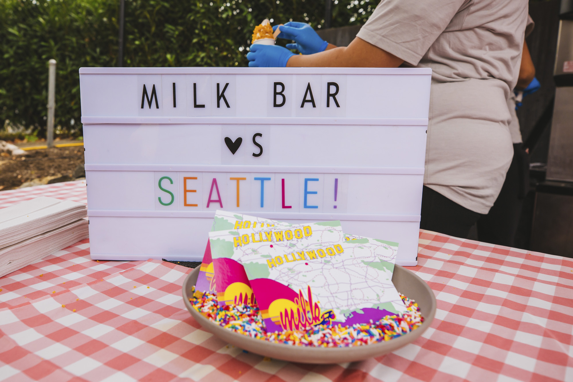 Talk about bittersweet! CEO Christina Tosi and her beloved Milk Bar popped up at Canlis over the weekend, to crowds of fans hoping for a taste of famous items like Crack Pie, or Cereal Milk. A hot destination on the East Coast and in Vegas, Seattleites have been preying for a local brick and mortar for ages. Maybe this pop-up is testing the waters? If so - let's consider this test ACED. (Image: Sunita Martini / Seattle Refined){ }{ }