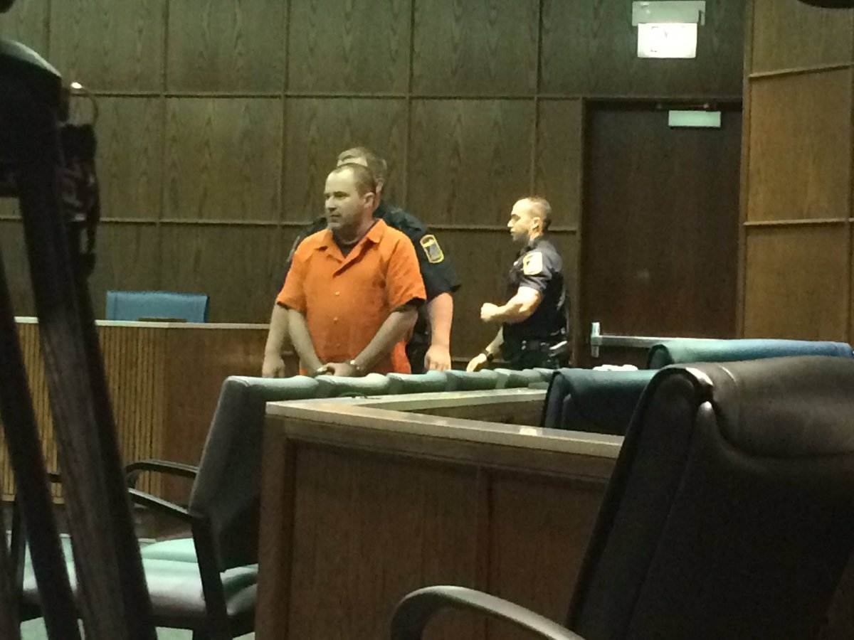 Benjamin Brewer appears in court for Thursday's motions hearing. Several witnesses to the deadly crash are to testify. (Image: WTVC)