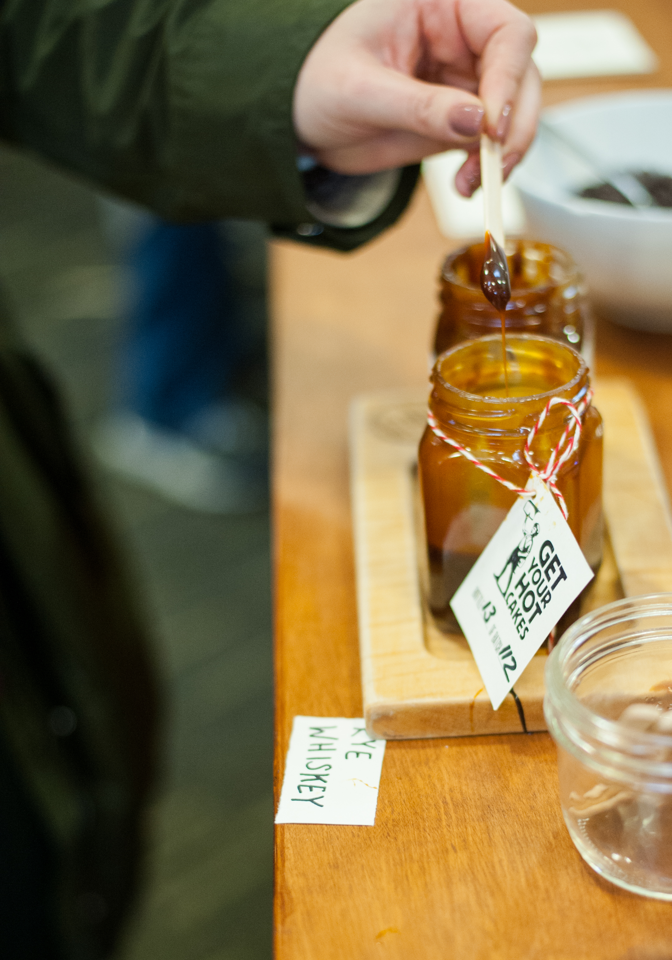 For a little break from chocolate, the rye whiskey caramel at Seattle's uber-popular Hot Cakes is so smokey and rich it  begs for a mention. Whiskey fans should grab this up to put on ice cream, or cake, or eat it on its own, it's that good. (Image: Elizabeth Crook / Seattle Refined)