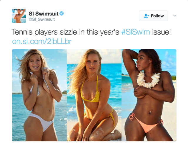 Genie Bouchard, Caroline Wozniacki, and Serena Williams are featured in the 2017 Sports Illustrated Swimsuit Issue.