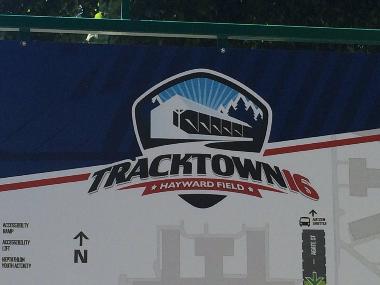 Merchants and staff set up the TrackTown16 Fan Festival in Eugene on Thursday, June 30, 2016. The free festival opens to the public at 1 p.m. July 1, 2016. (SBG photo)