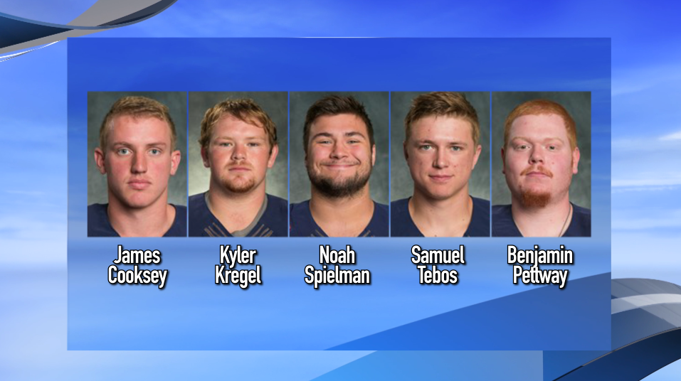 Five Wheaton College football players face criminal charges in connection with a hazing incident.