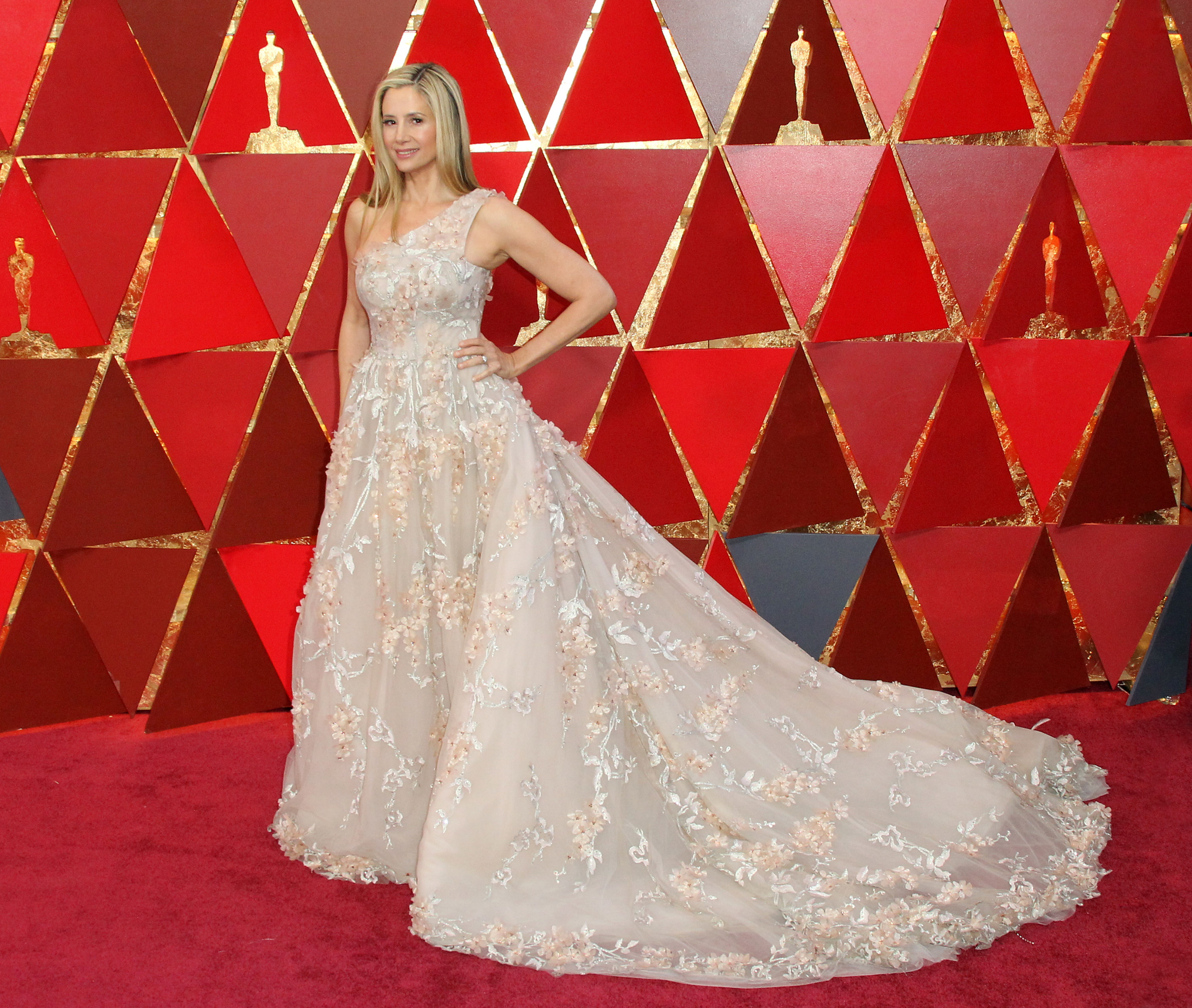 Mira Sorvinoarrives at the 90th Annual Academy Awards (Oscars) held at the Dolby Theater in Hollywood, California. (Image: Adriana M. Barraza/WENN.com)<p></p>