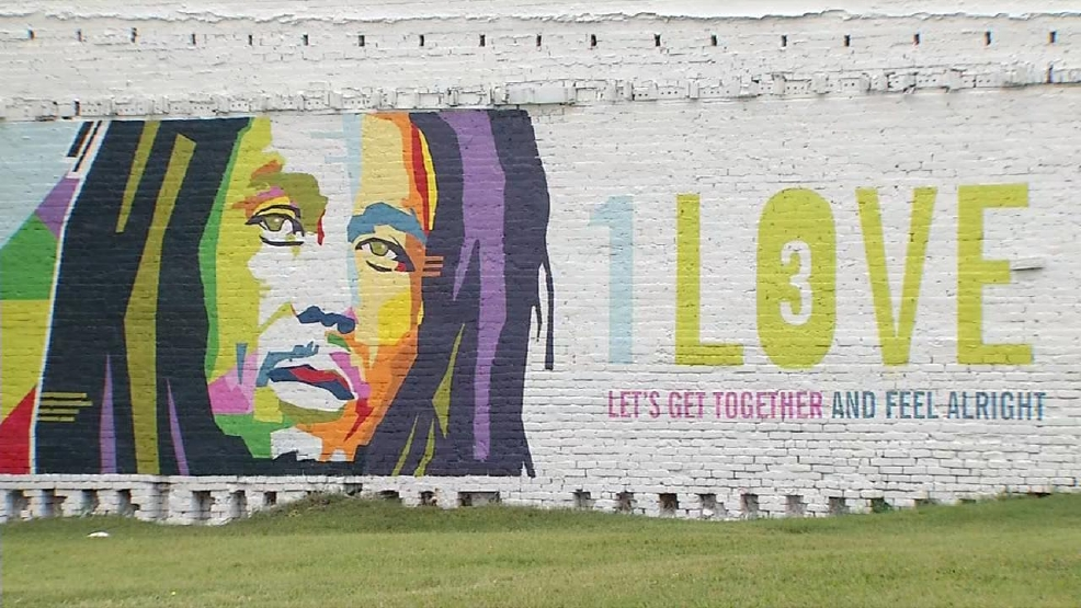 New bob marley mural in decatur wics for Bob marley mural