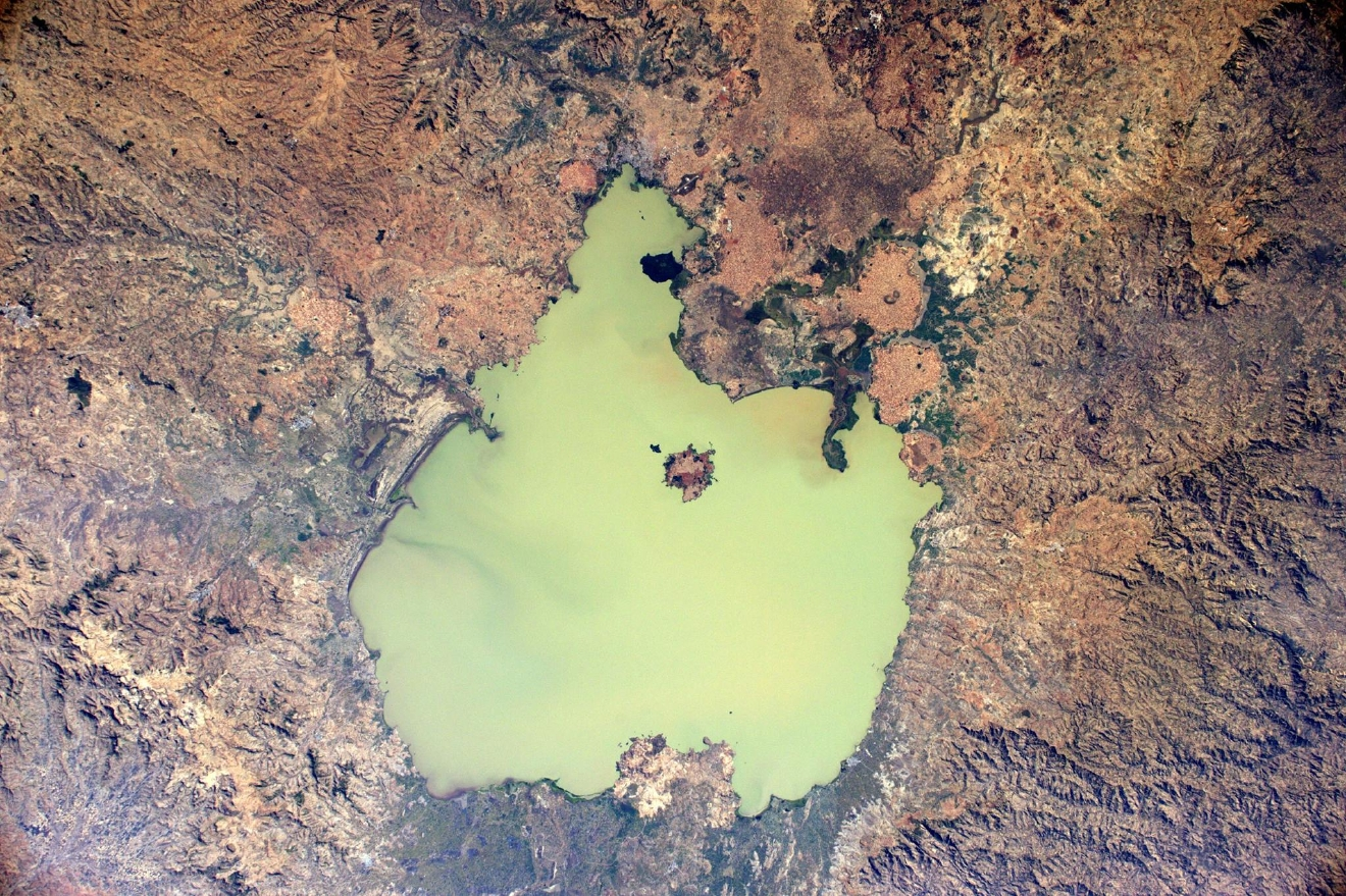 Ethiopian landscapes are just as colourful! Here is the largest lake of the country, Lake Tana (Photo & Caption: Thomas Pesquet // NASA)