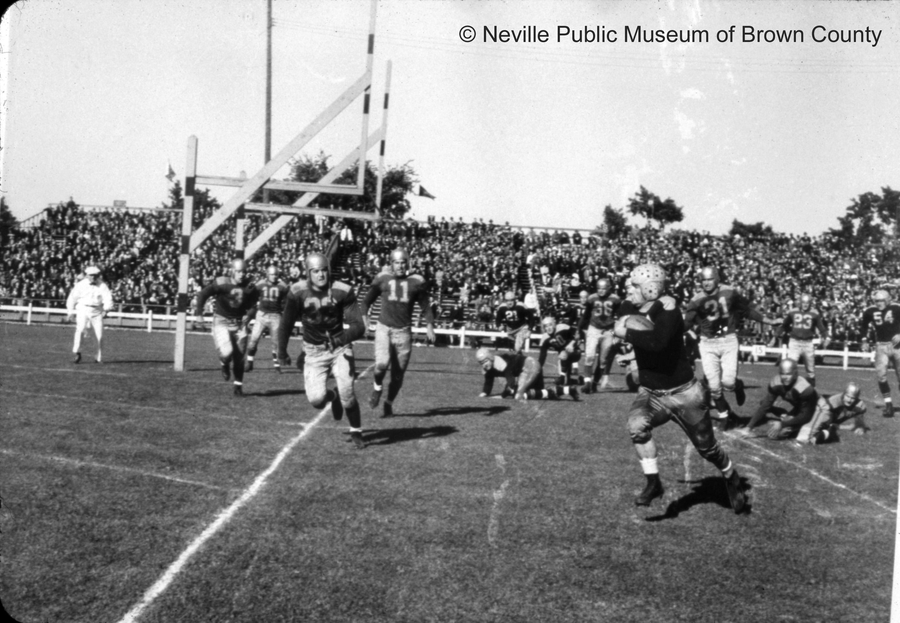 City Stadium brought several NFL championship seasons to the Packers in 1929, 1930, 1931, 1936, 1939, and 1944. (Courtesy: Neville Public Museum of Brown County)<p></p>