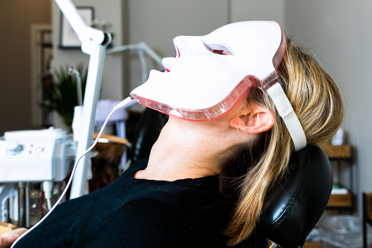 The LED mask reduces signs of aging (sign me up please!) / Image: Amy Elisabeth Spasoff // Published: 3.17.19