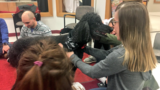 Dog therapy helps calm IU South Bend students before finals