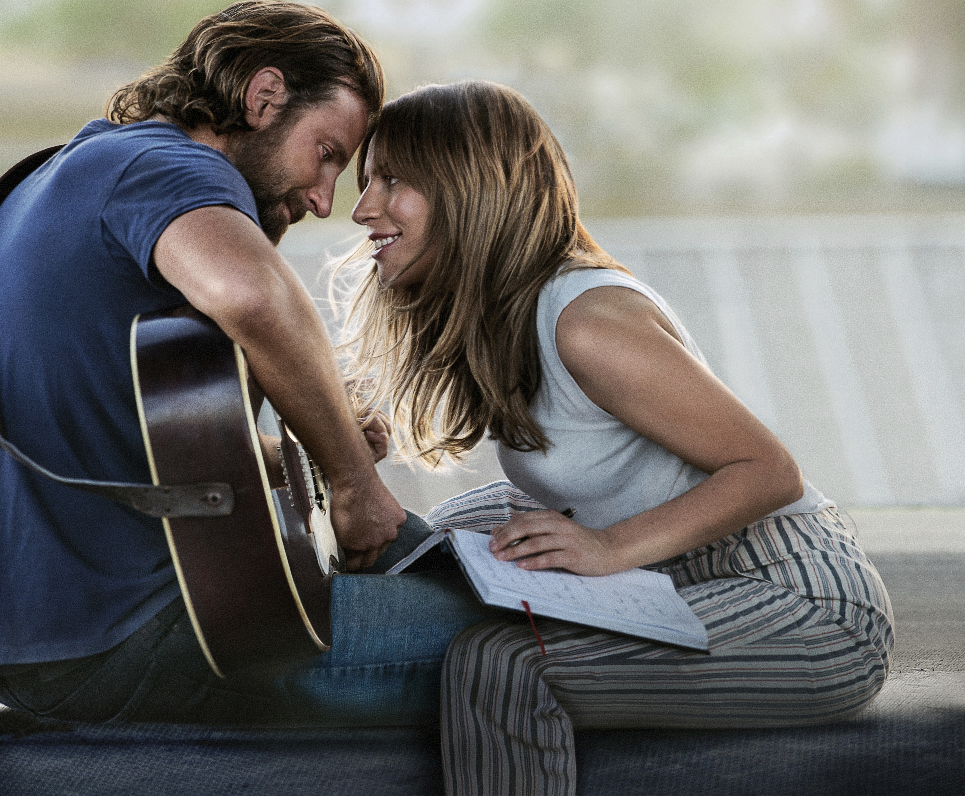 "FILE - This file image released by Warner Bros. Pictures shows Bradley Cooper, left, and Lady Gaga in a scene from ""A Star is Born."" (Warner Bros. Pictures via AP, File)"