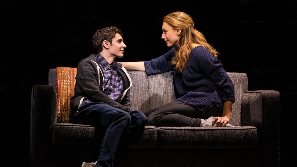 4 - Ben Levi Ross as 'Evan Hansen' and Jessica Phillips as 'Heidi Hansen' in the First North American Tour of.jpg