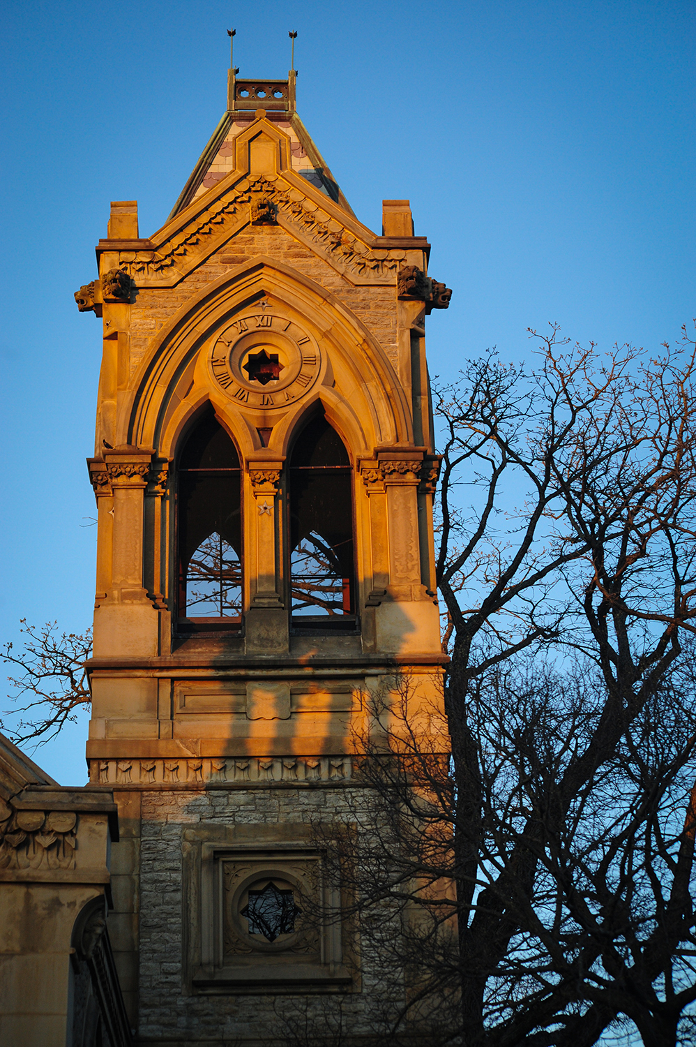 A tower on Spring Grove's historic office building at the main gate / Image: Melissa Doss Sliney