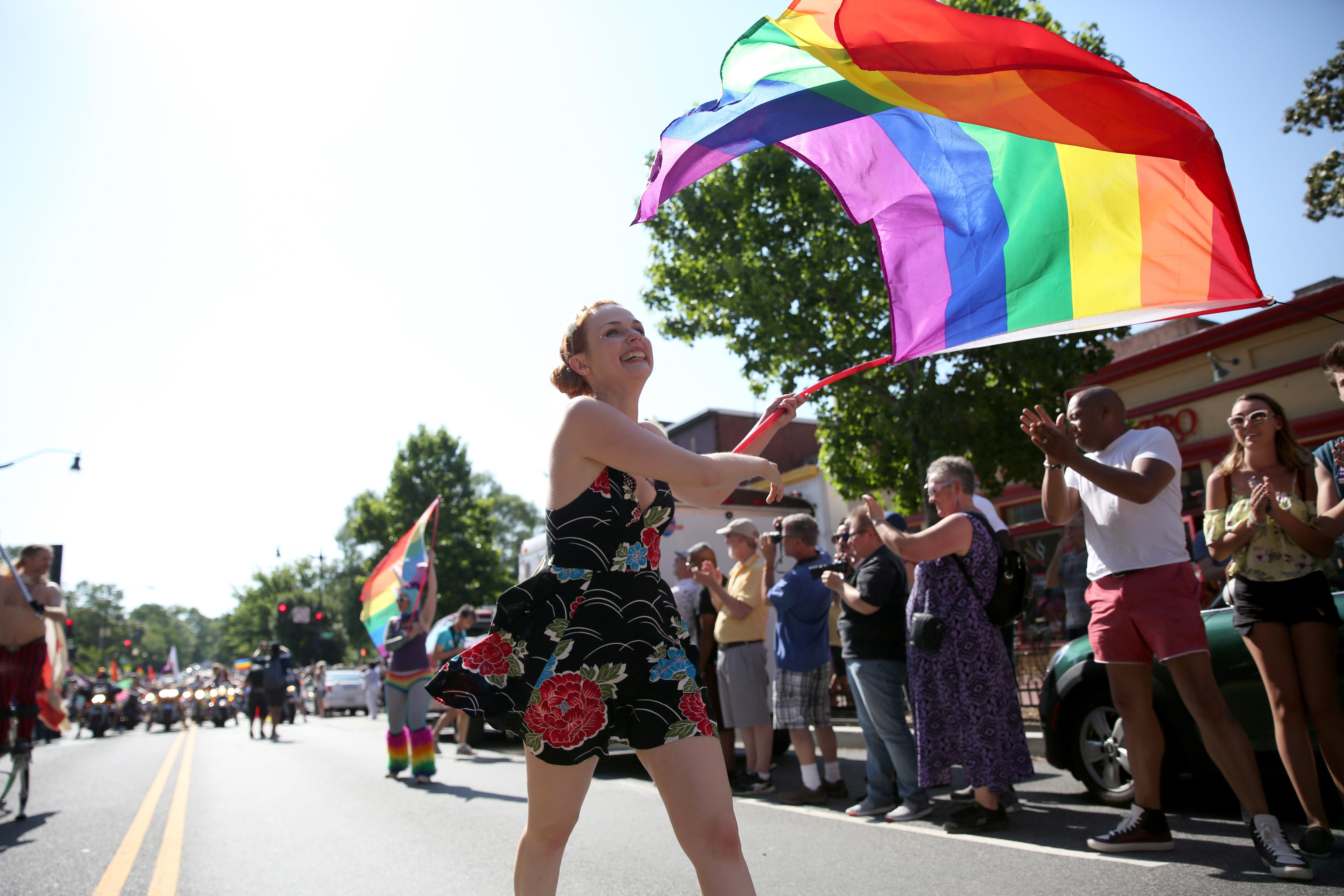 Rainbows flooded the streets of D.C. for the annual LGBTQ pride parade, which celebrates identity and love while honoring the community's history of resistance. (Amanda Andrade-Rhoades/DC Refined)