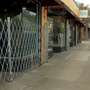 SE Hawthorne businesses add metal gates to prevent homeless from sleeping in doorways