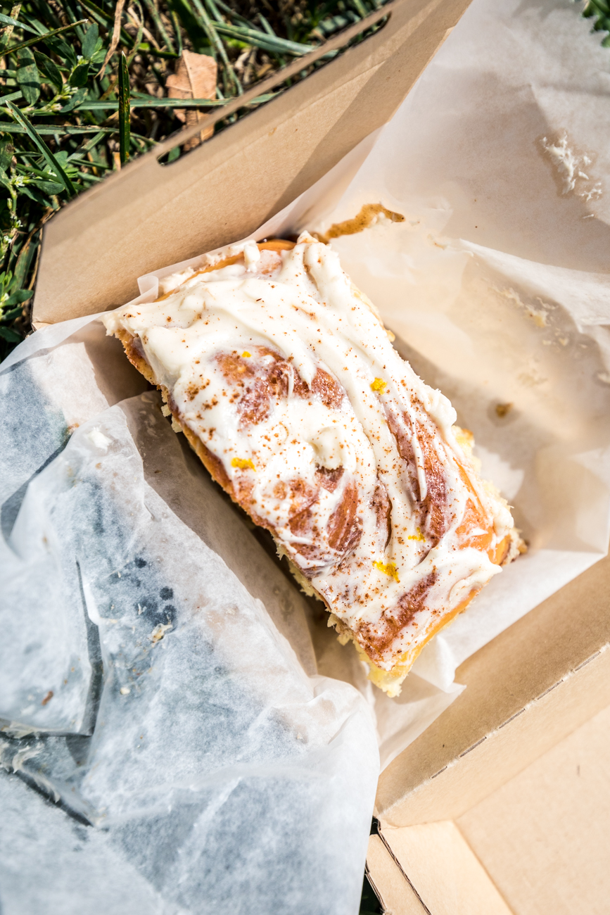 Cinnamon Roll from Brown Bear Bakery / Image: Catherine Viox{ }// Published: 9.26.20