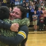 Navy Sailor surprises mom with early homecoming at Traverse City East Middle School