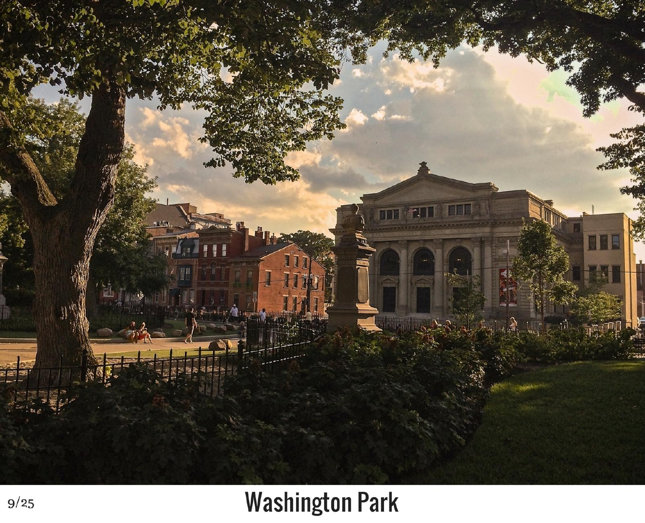 WHAT: Washington Park / WHERE: 1230 Elm Street, Over-the-Rhine 45202 / Image: Phil Armstrong, Cincinnati Refined / Published: 10.27.16