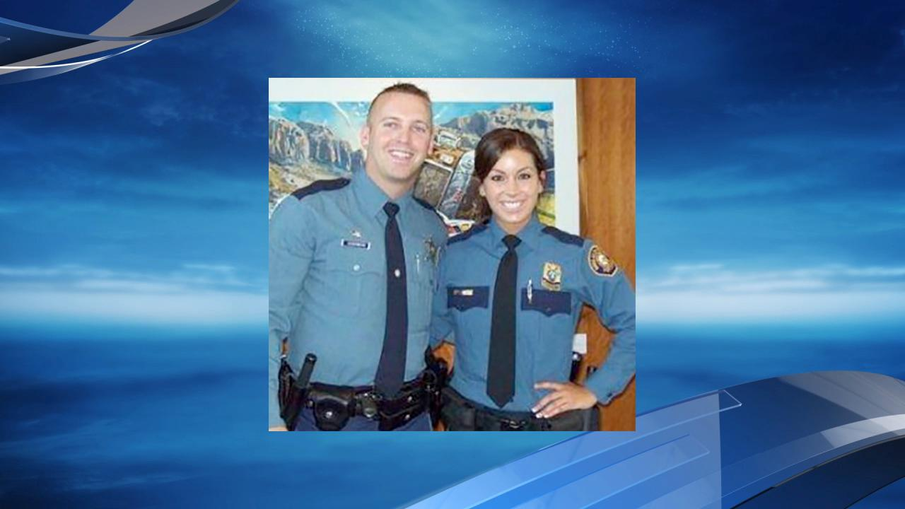 Nic Cederberg and his wife, Hayley Shelton (Photo courtesy Oregon State Police)
