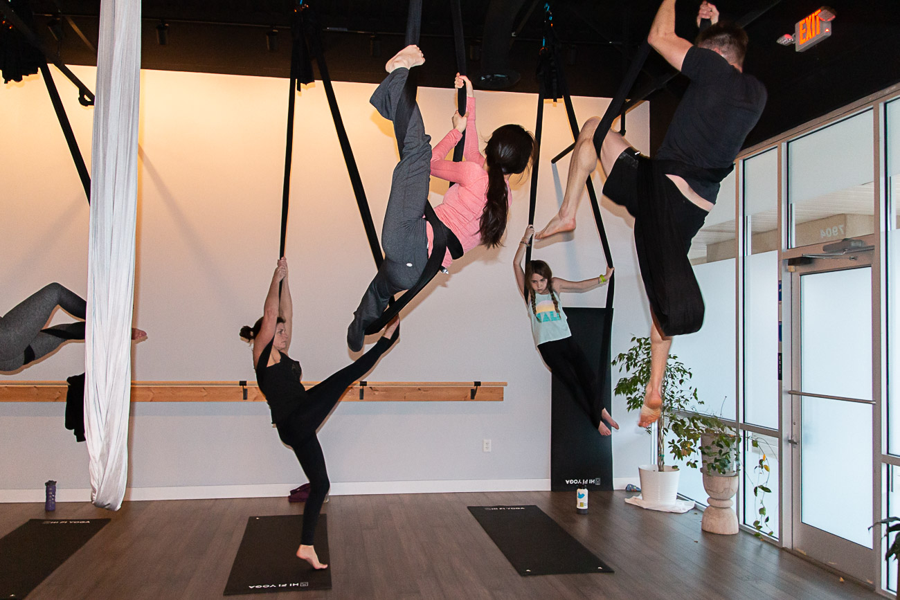 HI FI YOGA is a high-intensity yoga and aerial yoga studio in Mason that opened in November of 2018. Yogis of all ages and skill levels are invited to try the boutique yoga experience with music at its core. Owners Lori Allen and Tommy Moorman opened HI FI to be a studio that focuses on the physical practice of yoga to challenge the mind and body in a fun space with a refreshing playlist that sets the perfect tone for each class. ADDRESS: 7900 Mason Montgomery (45040) / Image: Elizabeth A. Lowry // Published: 3.5.20