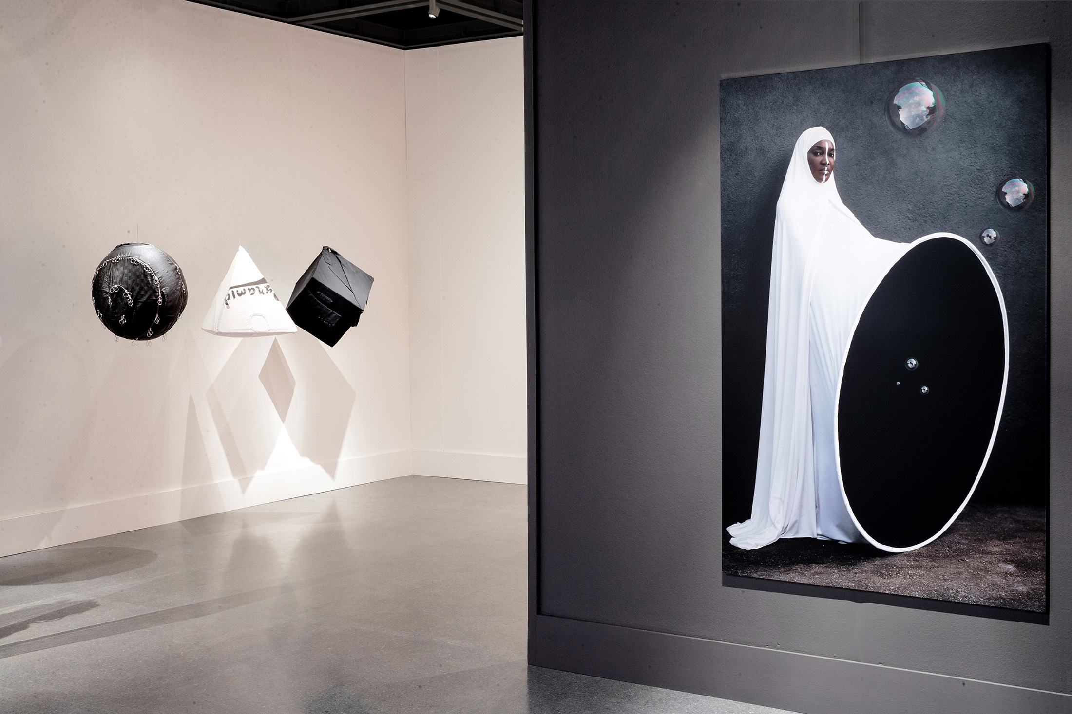 Installation view, New Orleans Museum of Art Anrealage & Maimouna Guerresi (Photo: Josh Brasted)