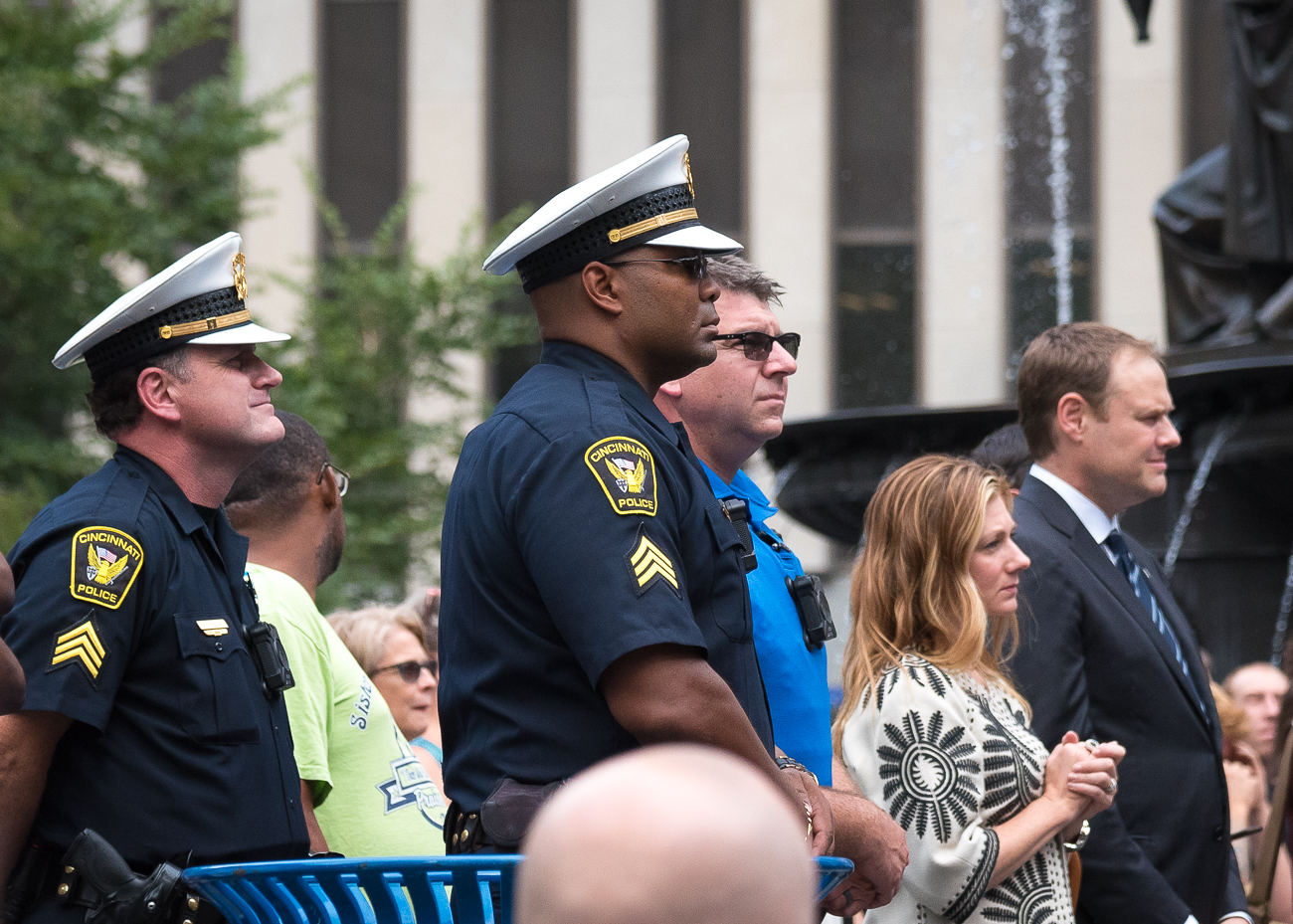Law enforcement were among the many people at the event. / Image: Phil Armstrong, Cincinnati Refined // Published: 9.8.18
