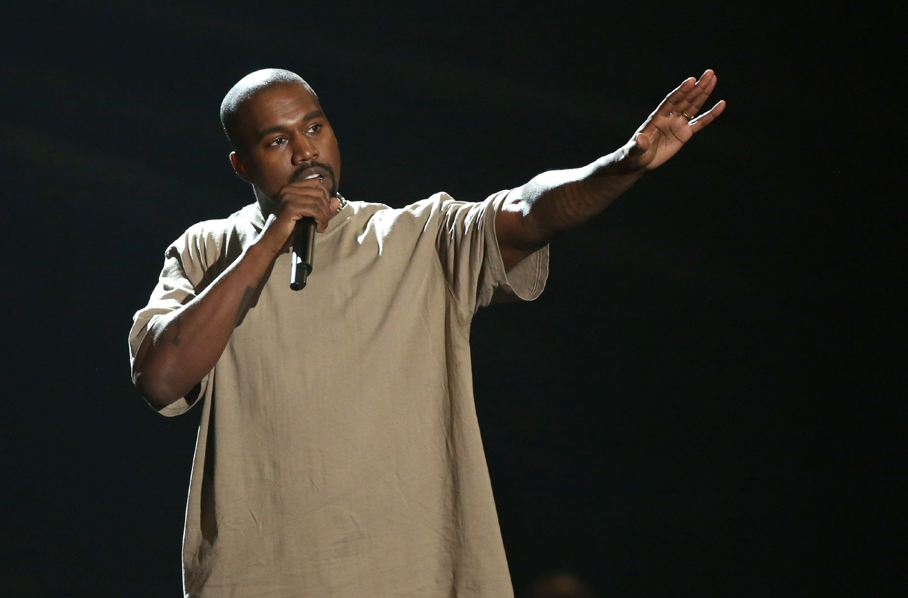 FILE - In this Sunday, Aug. 30, 2015, file photo, Kanye West accepts the video vanguard award at the MTV Video Music Awards at the Microsoft Theater in Los Angeles. After six weeks of streaming exclusively on Tidal, the Jay-Z-backed music service, WestÂ?s latest album, Â?The Life of Pablo,Â? was finally released to other streaming platforms like Spotify and Apple Music and put up for sale on his website. West tweeted on Feb. 15, 2016, that the album Â?will never never never be on Apple. And it will never be for sale.Â? (Photo by Matt Sayles/Invision/AP, File)