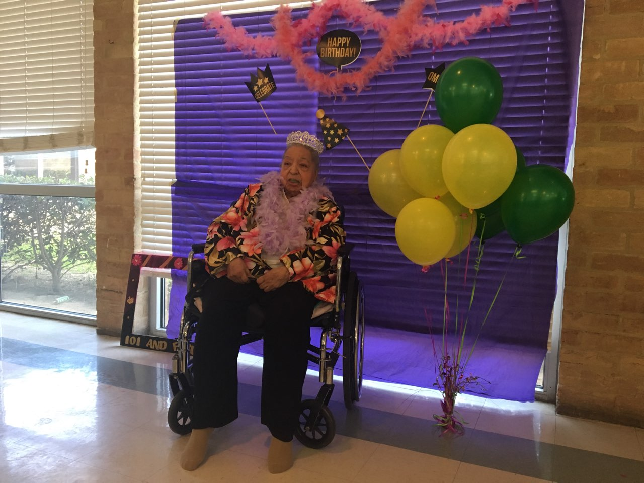 Lydia Olivarri celebrates 101 years (Photos: Sinclair Broadcast Group)