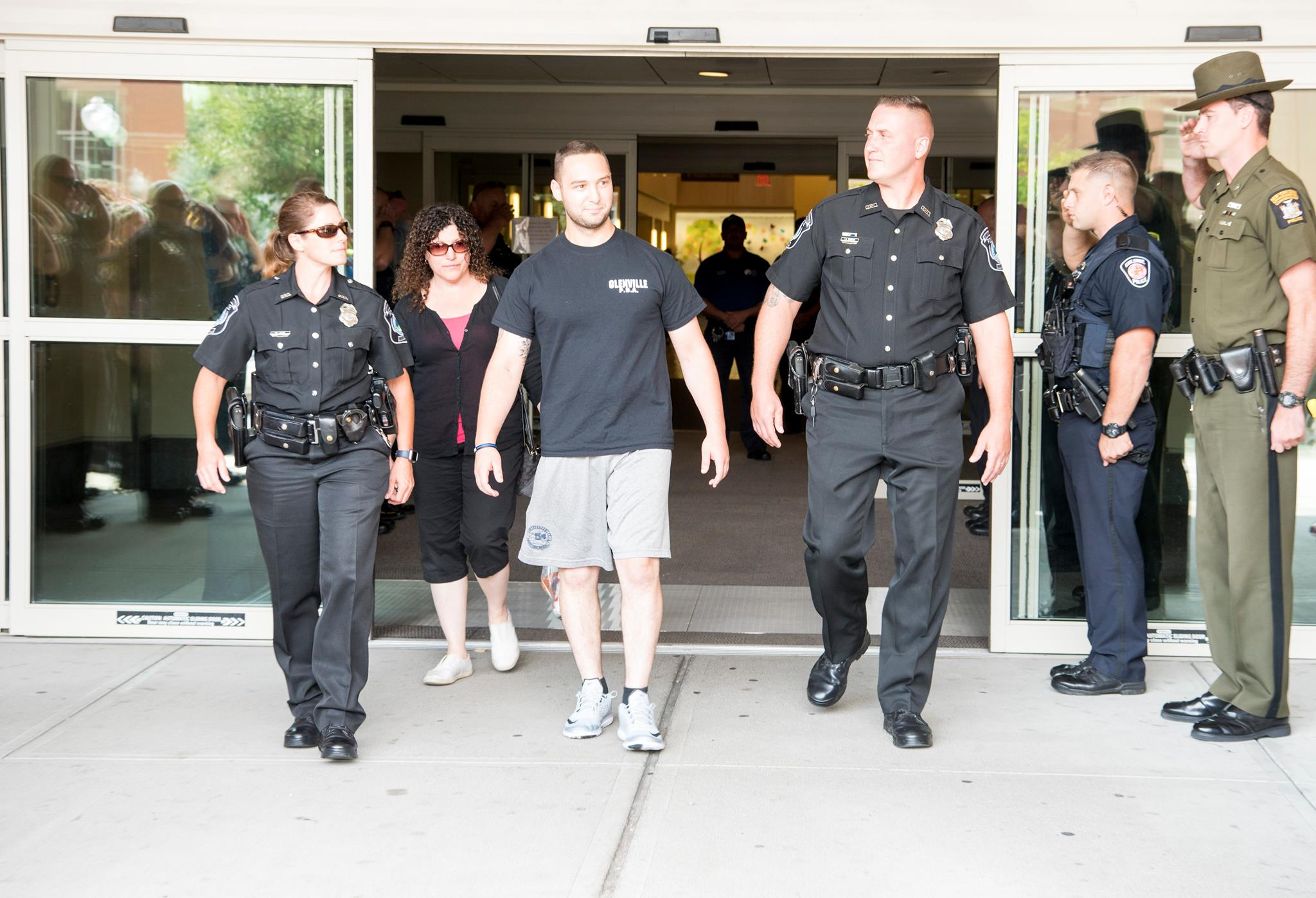 Glenville Police Officer Benjamin Ferretti  was released from Albany Medical Center. (Photo: Albany Police Officer Steven Smith)