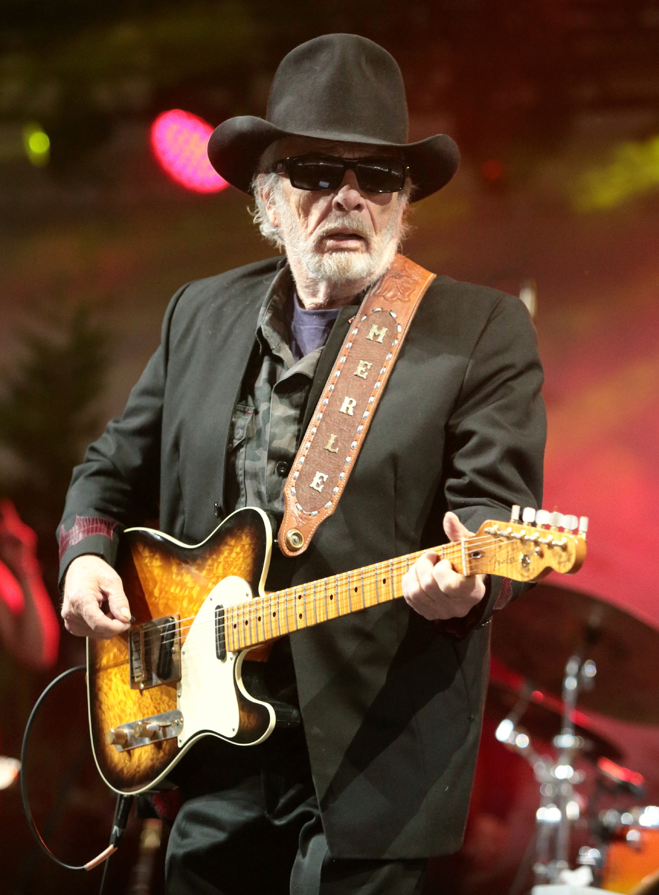 FILE - In this June 28, 2015 file photo, Merle Haggard performs on Day 3 of the 2015 Big Barrel Country Music Festival at The Woodlands on Sunday, June 28, 2015, in Dover, Del. Haggard died of pneumonia, Wednesday, April 6, 2016, in Palo Cedro, Calif. He was 79. (Photo by Owen Sweeney/Invision/AP)