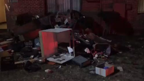 A D.C. apartment fire left 19 displaced and a man critically injured. (Photo, ABC7){&amp;nbsp;}<p></p>