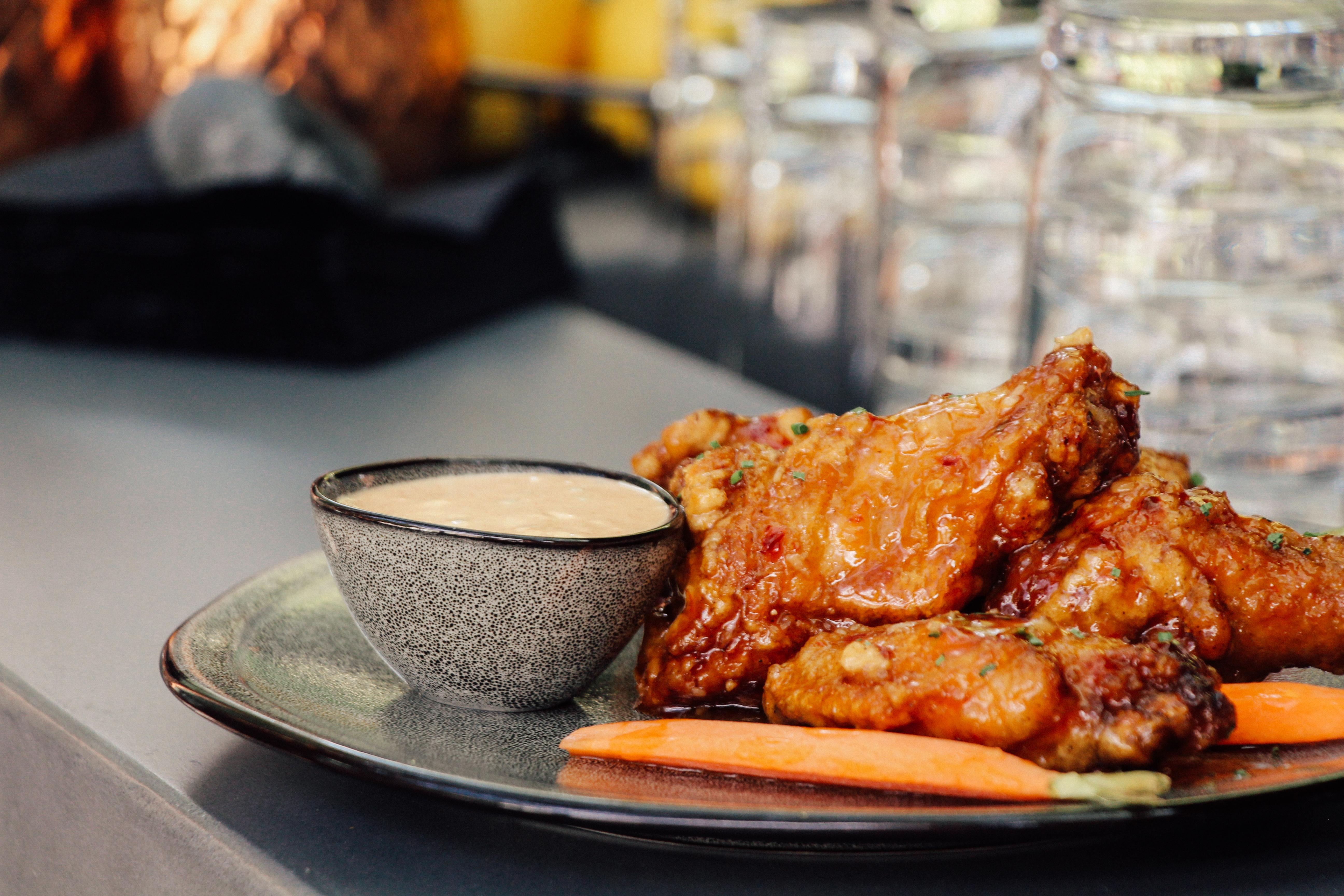 Bourbon Glazed Wings at the Ritz Carlton Georgetown, (Photo credit Ritz Carlton)