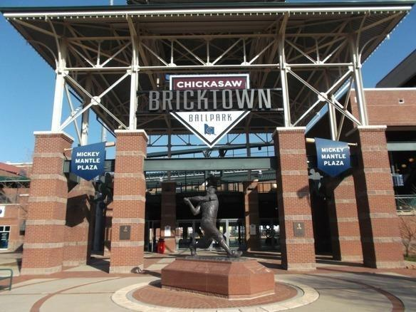 Oklahoma City's Chicakasaw Bricktown Ballpark is home to Houston Astros' AAA affiliate Oklahome City RedHawks.