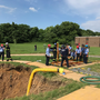 7+ HOURS | 'Recovery' continues of worker who fell into 20-foot hole