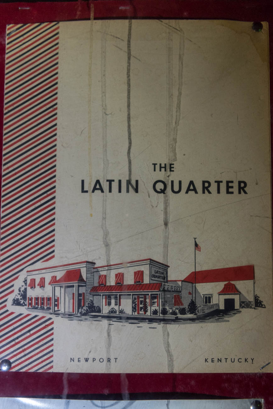 A menu from the Latin Quarter nightclub and casino / Image: Mike Menke // Published: 10.9.18