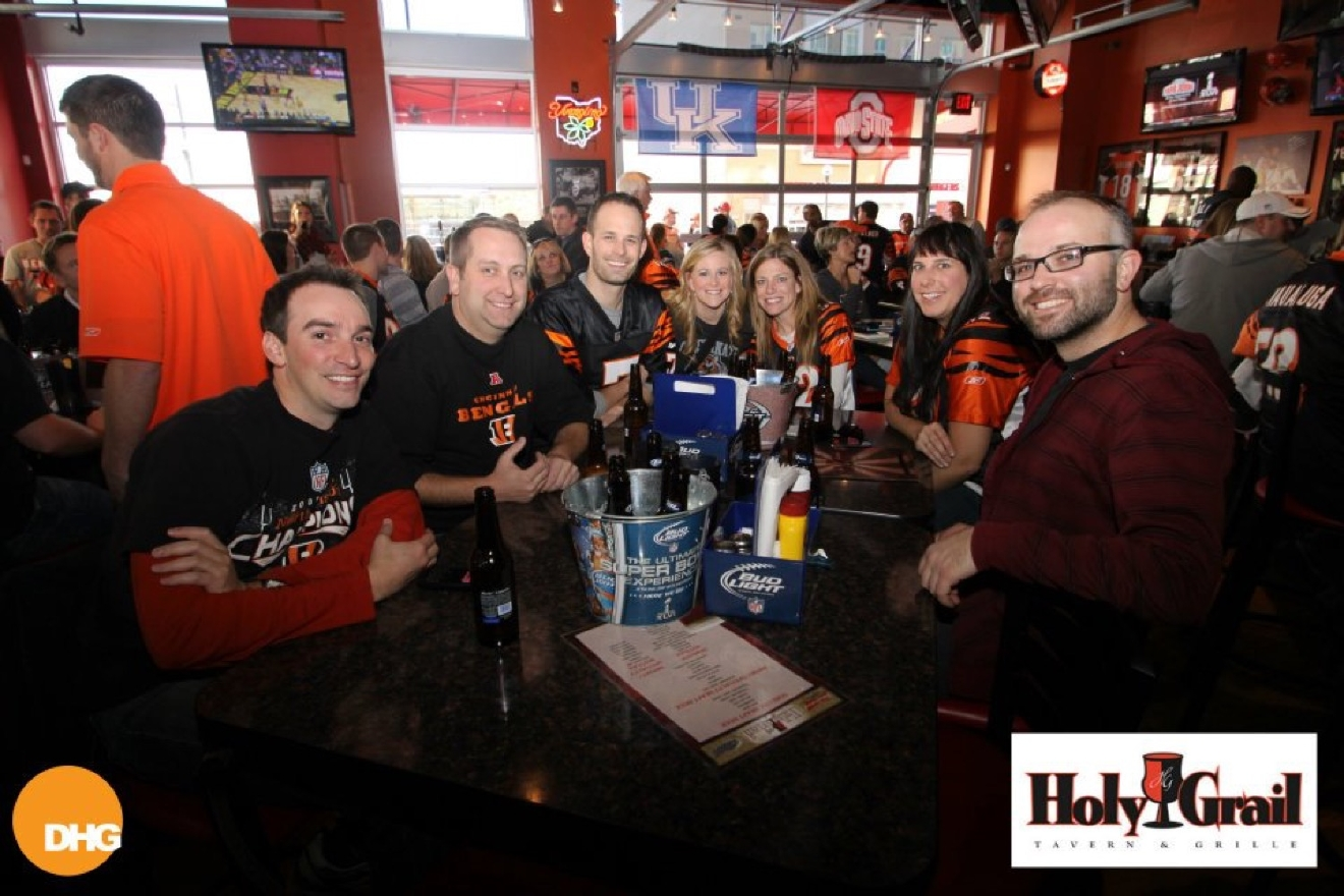 WHERE: Holy Grail Tavern & Grille / LOCATION: 161 Joe Nuxhall Way / DESCRIPTION: You've probably watched a few Reds games (and done a few tequila shots) at Holy Grail, and it's packed and awesome when the Bengals play too. / Image courtesy of Holy Grail Tavern and Grille / Published: 11.8.16