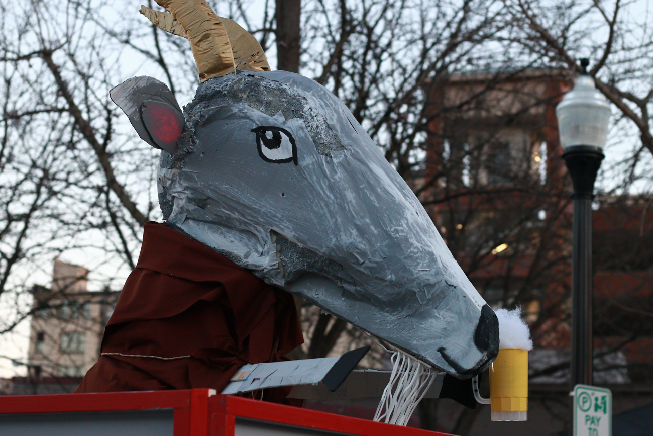 Bockfest celebrated the beginning of its 25th year on Friday, March 3, 2017 with the annual Bockfest parade. The parade began at Arnold's on 8th Street and proceeded up to the Moerlein Brewery in Over-the-Rhine. / Image: Sharee Allen // Published: 3.4.17