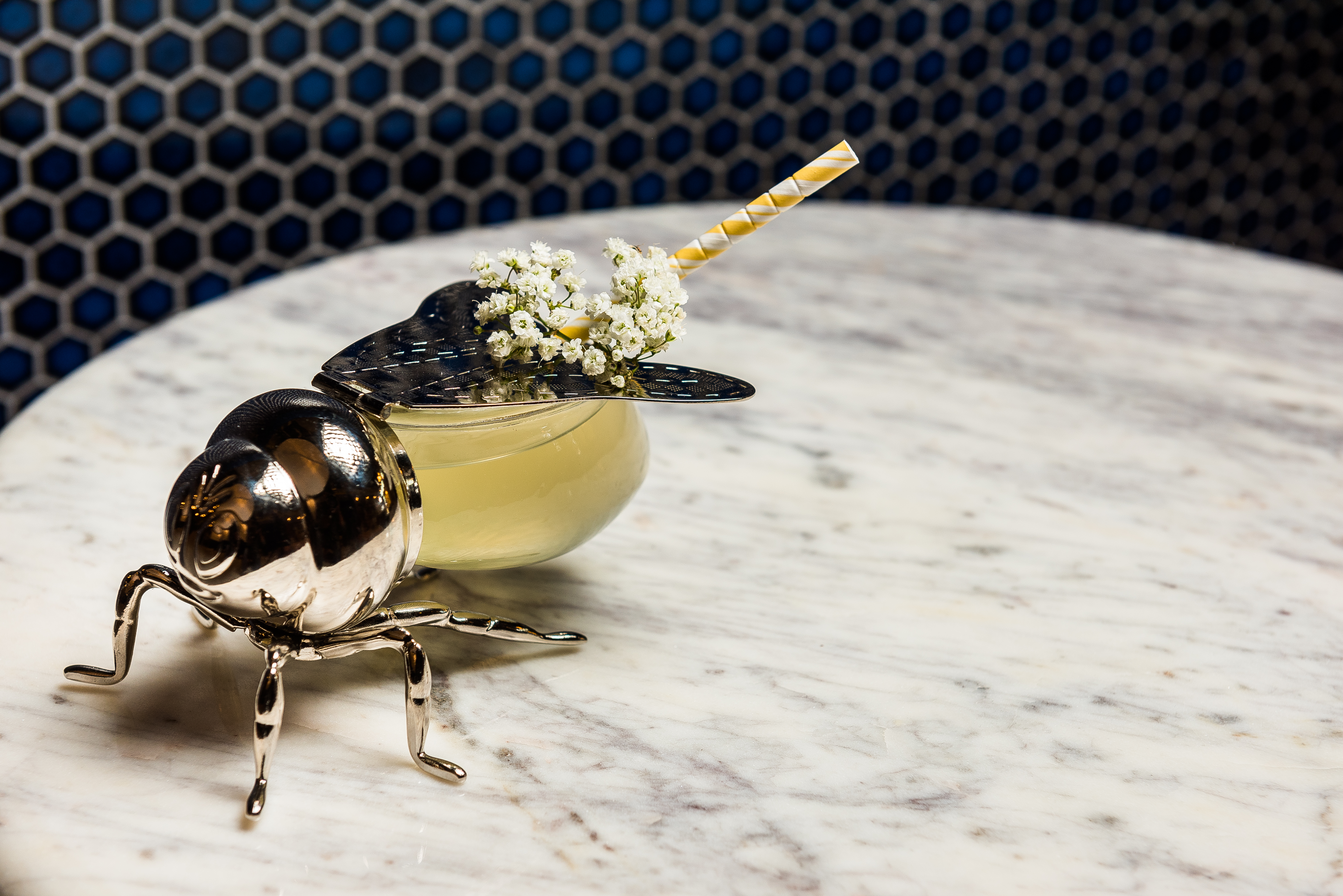 Bee's Knees-- Bee's Wax Gin, Truffle Honey, Citrus.{ }On the menu at Bresca. (Image: Rey Lopez)