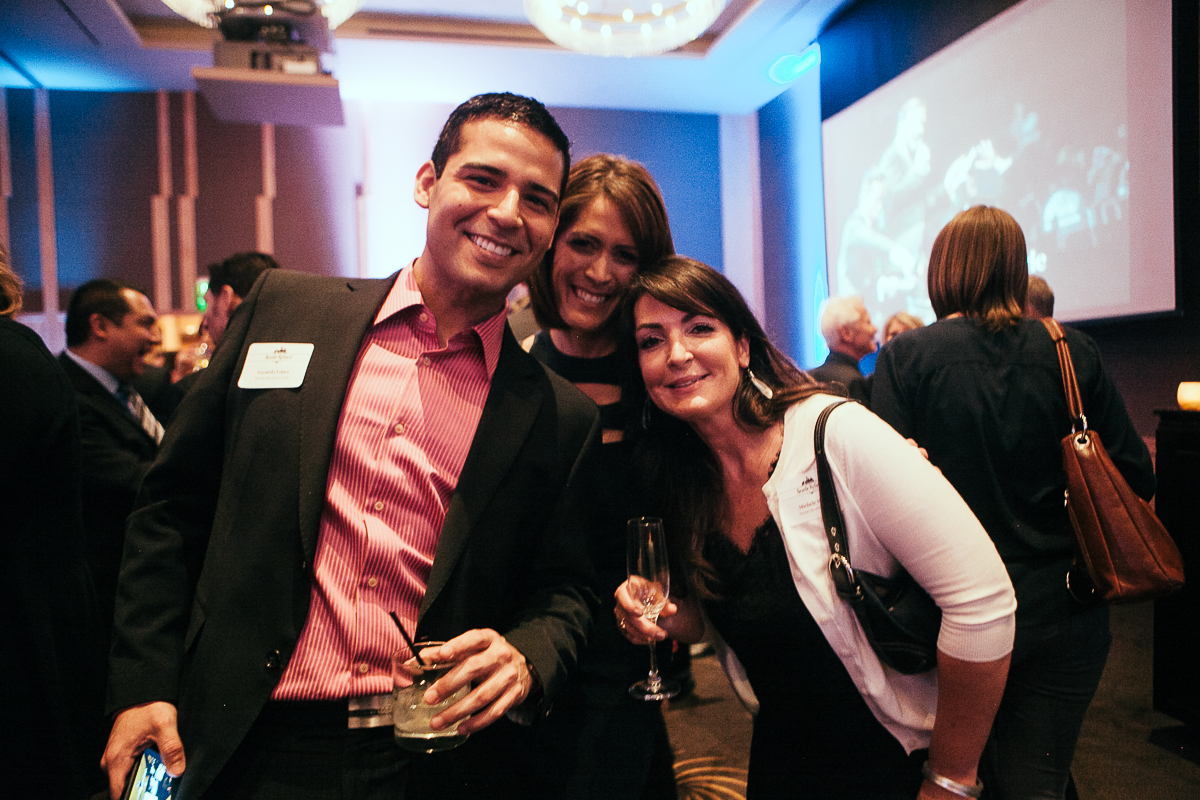 Molly Chen, Gerardo Lopez and Michelle Morin celebrate the launch of Seattle Refined at the Four Seasons. (Image: Joshua Lewis / Seattle Refined)