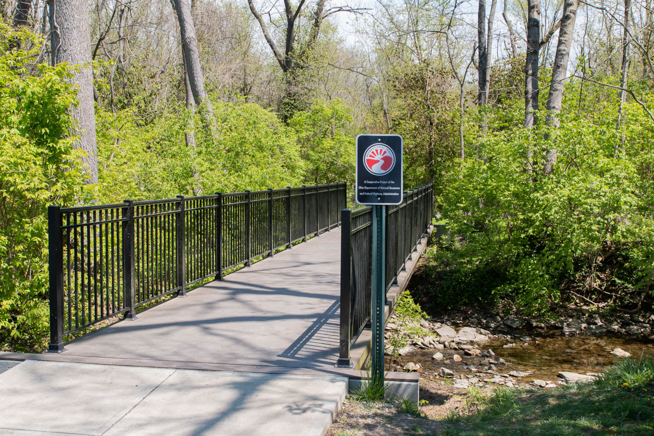 <p>The scenic spot is great for short hikes along its four interconnected trails with O'Bannon Creek running through the park. The Nature Preserve is a quick getaway into the woods that you could easily sneak into on a lunch break. There are plenty of places to sit and relax along the O'Bannon Creek, as well as several benches located alongside the trails that provide a spot to sit for quiet reflection or birdwatching. / Image: Elizabeth A. Lowry // Published: 5.12.20</p>