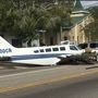 Plane crashes into cars in St. Petersburg