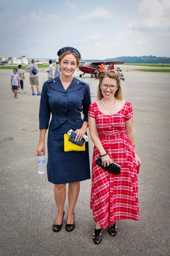 Megan Gibbs and Patricia Troy{ }from 1940s Day / Image: Mike Bresnen Photography // Published: 9.2.18