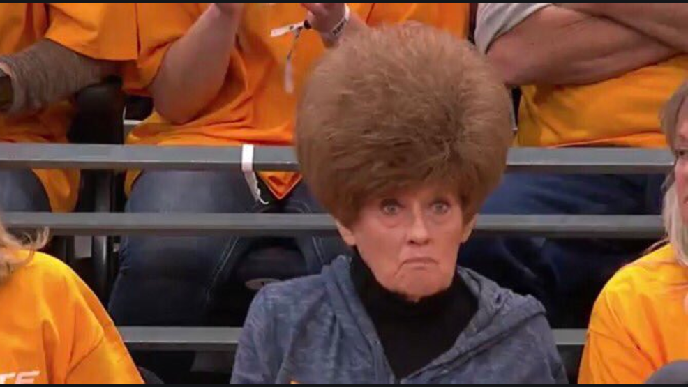 Woman's hairstyle steals the show at Utah Jazz, Houston Rockets playoffs game