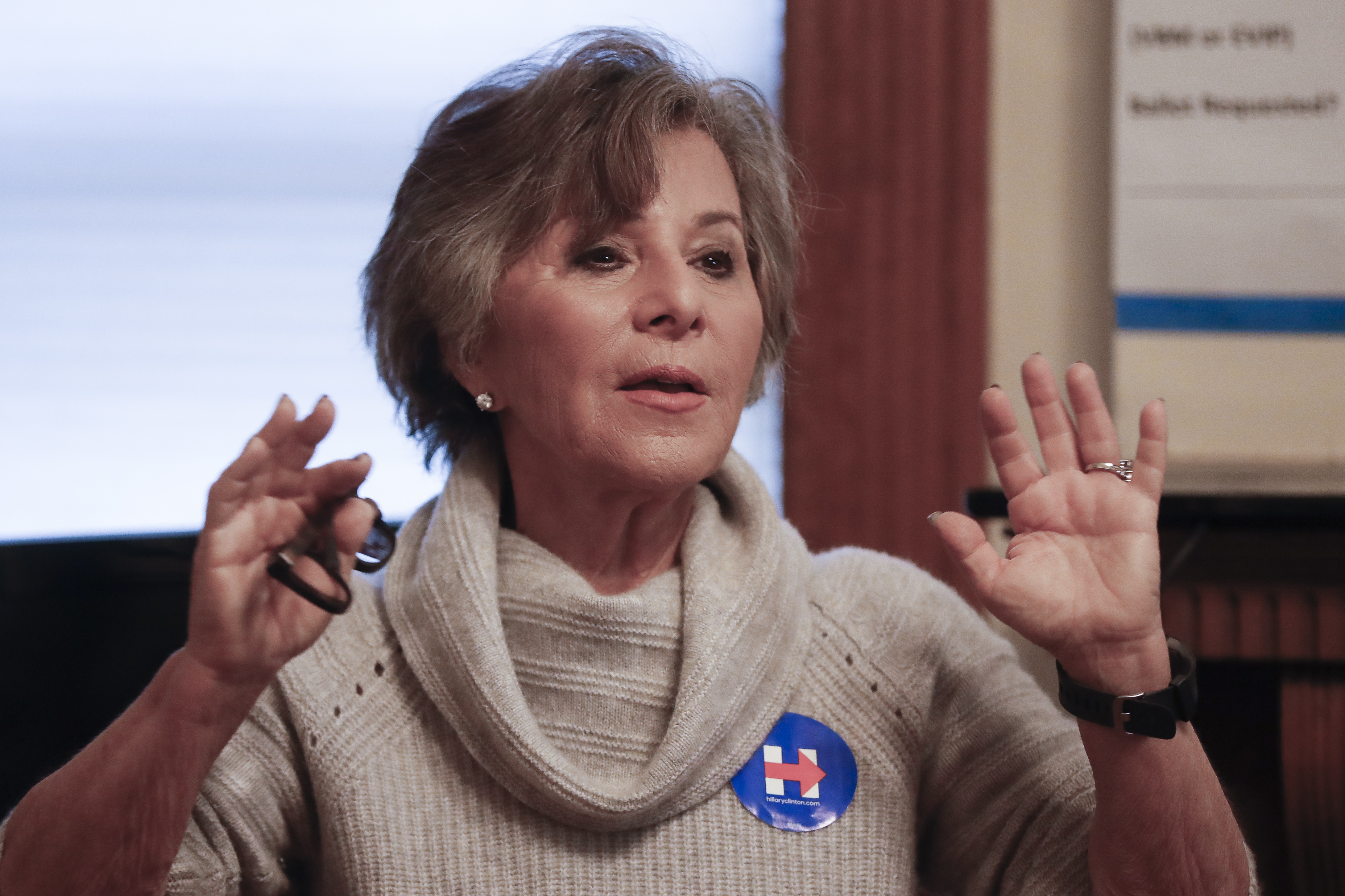 "FILE - In this Oct. 29, 2016, file photo, then-Sen. Barbara Boxer, D-Calif., speaks to volunteers at a home serving as a canvassing site to train and organize supporters of Democratic presidential candidate Hillary Clinton in Cincinnati. One current and three former female members of Congress tell The Associated Press they have been sexually harassed or subjected to hostile sexual comments by their male colleagues while serving in the House. ""This is about power,"" said Boxer, after describing an incident at a hearing in the 1980s where a male colleague made a sexually suggestive comment. (AP Photo/John Minchillo, File)"