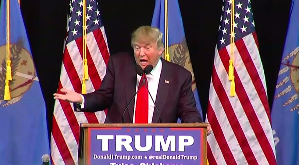 Donald Trump when he visited Tulsa on the campaign trail in January (KTUL)