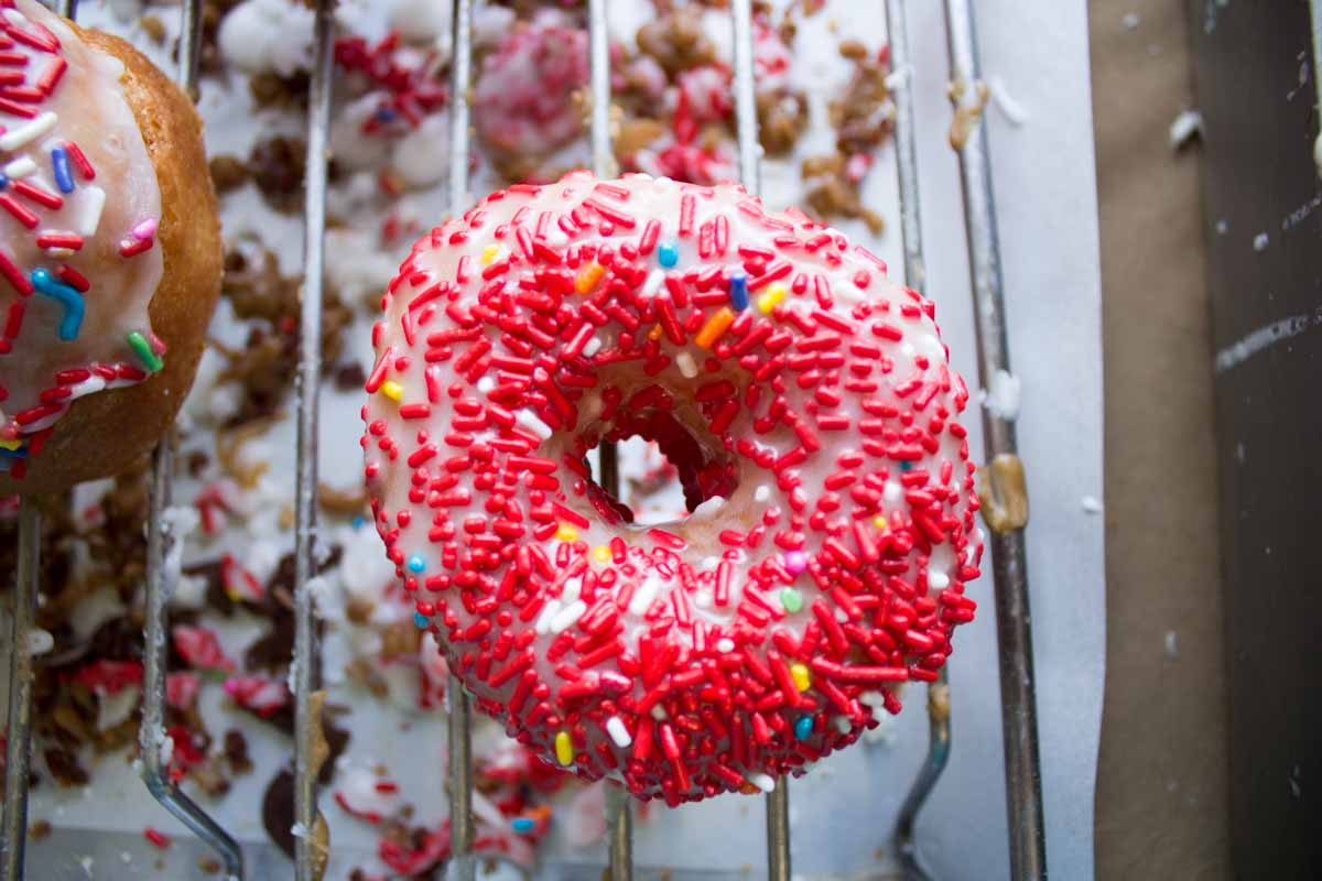 Holtman's Donuts has three locations: 1. Loveland (1399 Ohio 28); 2. Over the Rhine (1332 Vine St.); 3. Williamsburg (214 West Main Street) -- Image: Erin Walden