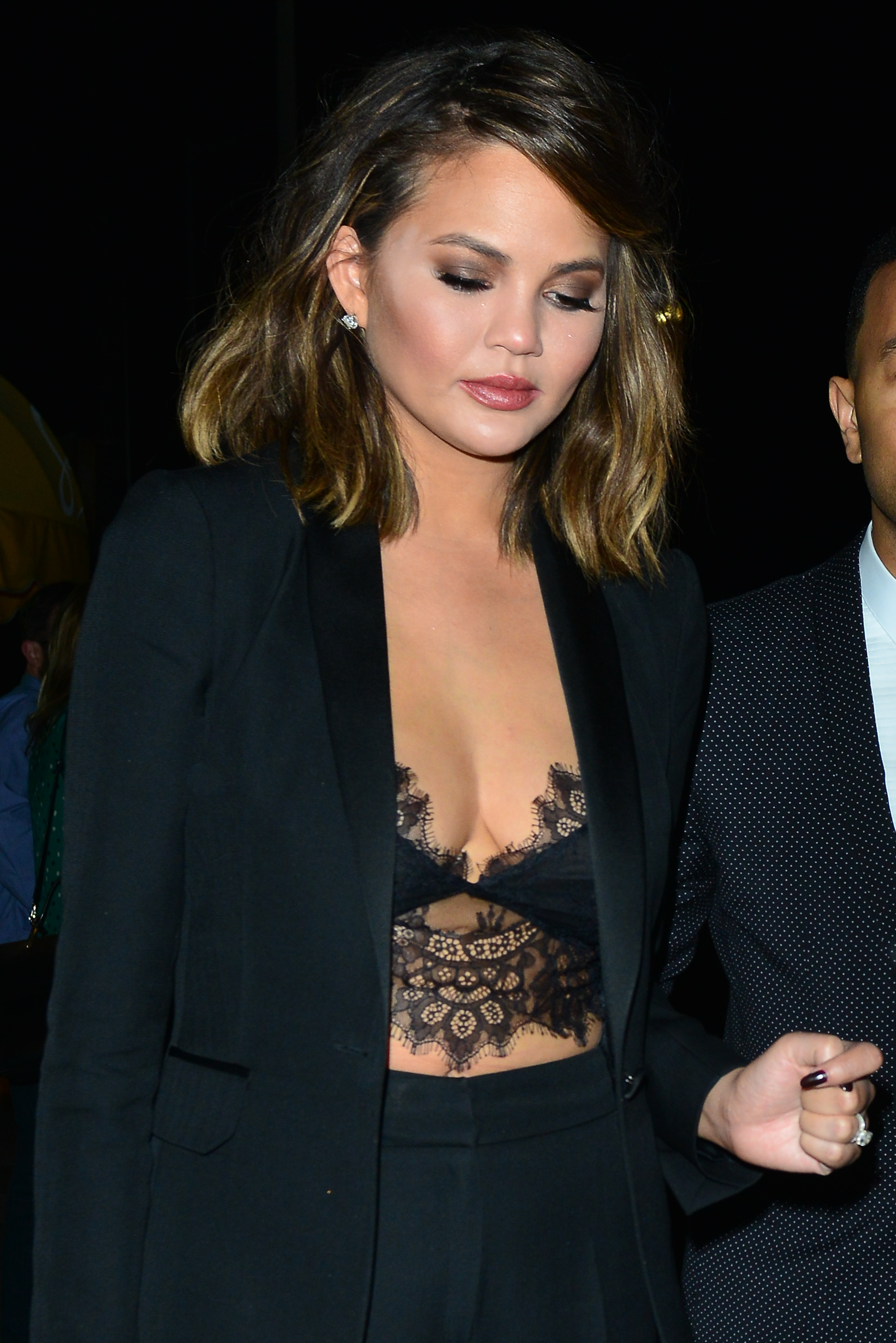 Chrissy Teigen and John Legend celebrate Valentine's Day at Giorgio Baldi restaurant in Santa Monica                                    Featuring: Chrissy Teigen                  Where: Santa Monica, California, United States                  When: 14 Feb 2017                  Credit: WENN.com