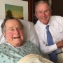 George HW Bush to stay through weekend in Houston hospital